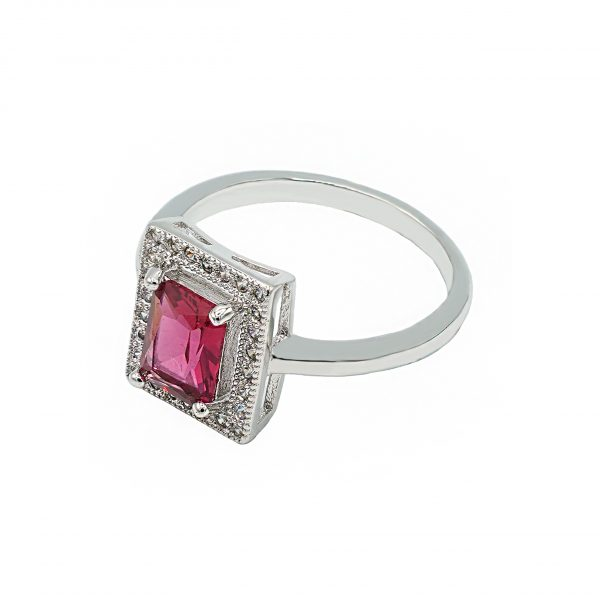 Square Style Stone Ring