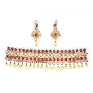 Pearls with Zircons Bridal Set